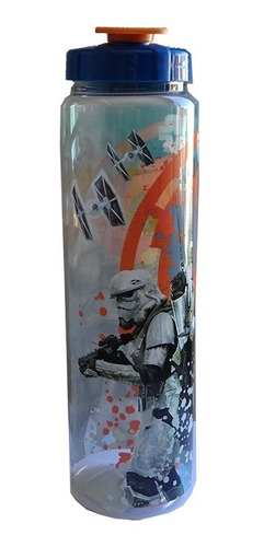 botella termo cilindro star wars trooper 900ml tapa azul
