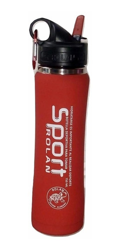 botella termo siliconada deportiva frío calor 500 ml rolan