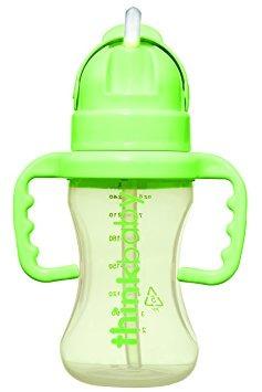 botella thinkbaby thinkster paja, verde claro / verde, 9 o