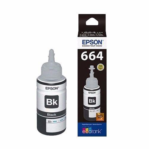 botella tinta epson t664 original negro 70 ml t664120