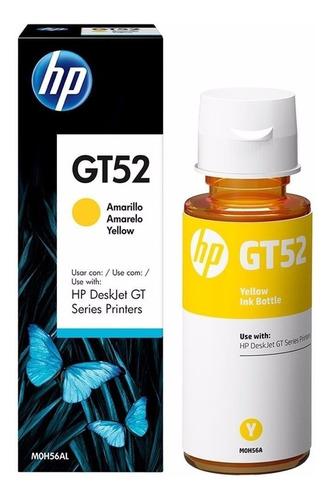 botella tinta original amarillo hp gt52 para gt5810 5820 415