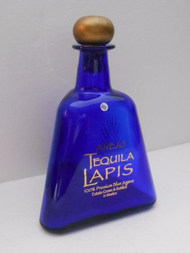 botella vacia tequila lapis añejo 750 ml. una pieza