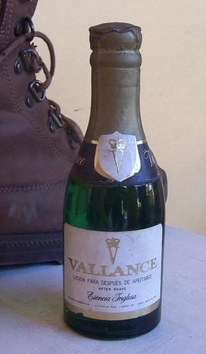 botella vallance,locion para despues de afeitarse.