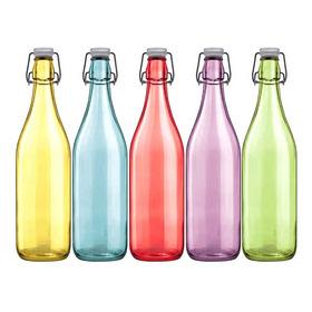Botella Vidrio H27cm/500ml Colores Surtidos