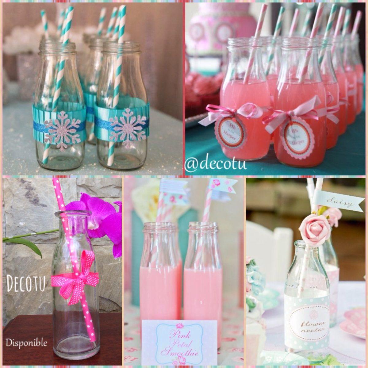 Botella vidrio recuerdo boda cumplea os vaso vintage 14cm - Como decorar un cristal de mesa ...