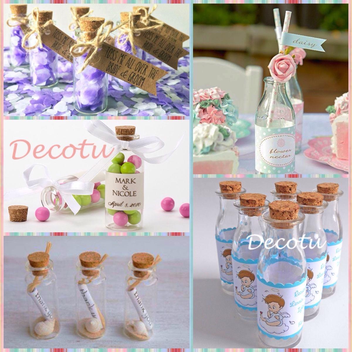 Botella vidrio recuerdo boda cumplea os vaso vintage 14cm for Botellas de cristal ikea