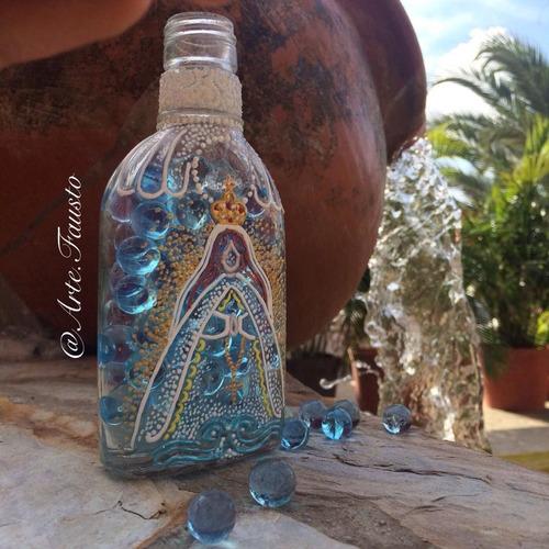 botella vintage de la virgen del valle