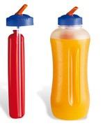 botellas 1000ml con refigerante y pico sorbete sin bisfenol