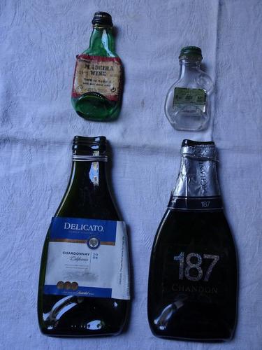 botellas aplastadas de vitrofusión