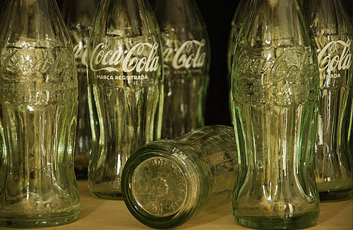 botellas coca cola