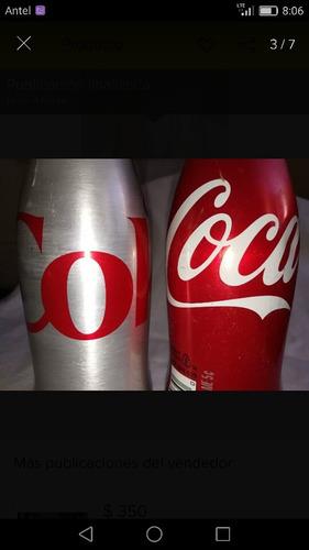 botellas cocacola de aluminio vacias $390 las 2juntas