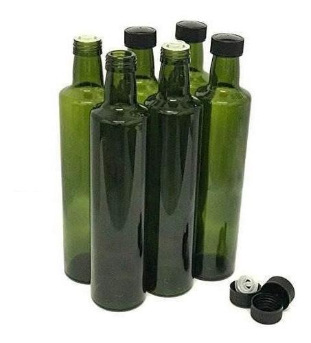 botellas de aceite de oliva con el accesorio cap y pourer