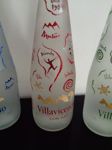 botellas de agua coleccionables de vidrio