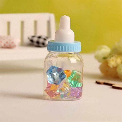 botellas de baby shower simplewoo con tapas azules extraíb