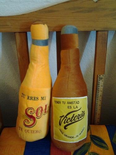 botellas de cerveza peluche