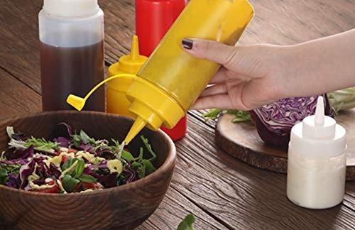 botellas de condimento de grado restaurante de 12 onzas