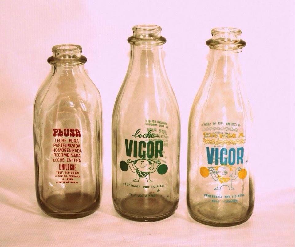 Botellas De Leche Antiguas De Vidrio S 5200 en Mercado Libre