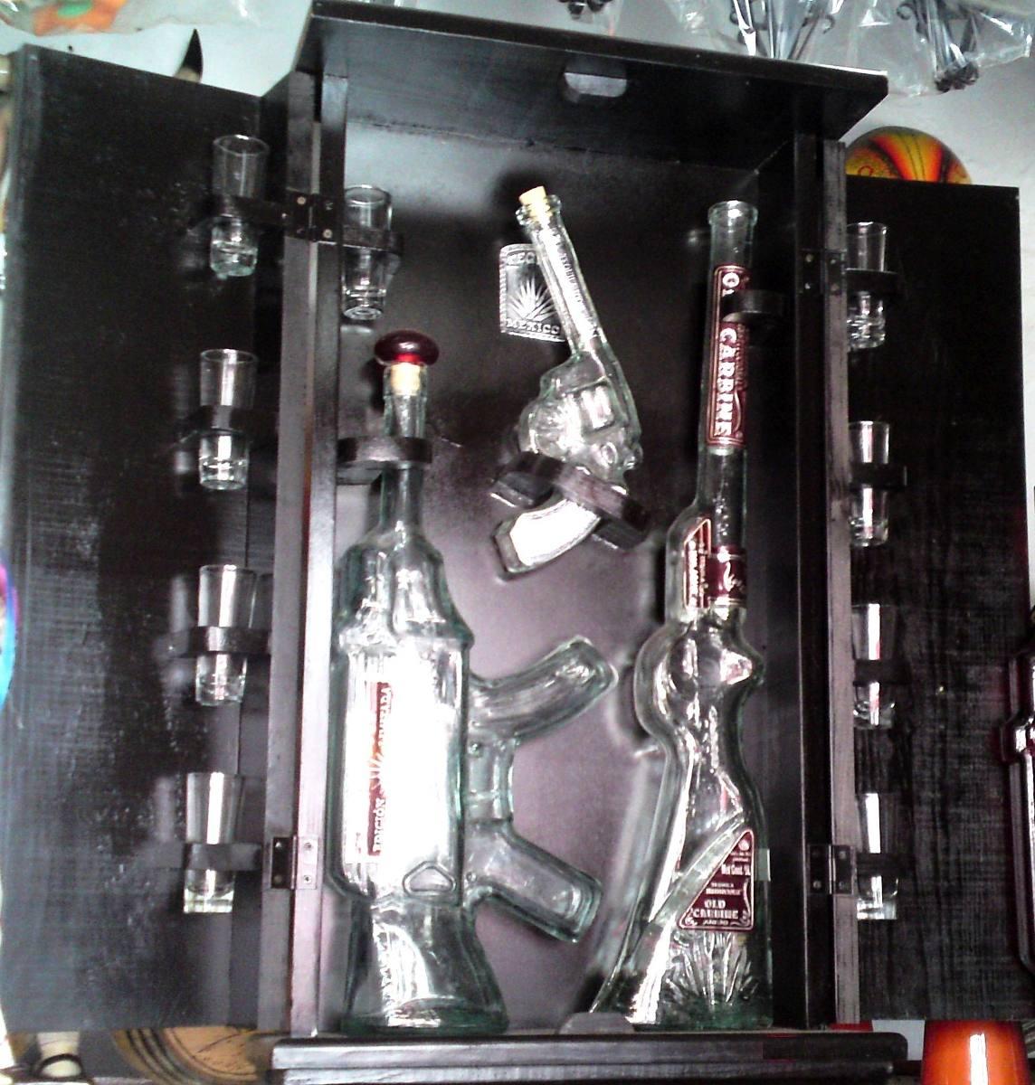 Botellas de vidrio con figura de arma para tequila - Botellas de vidrio para regalo ...