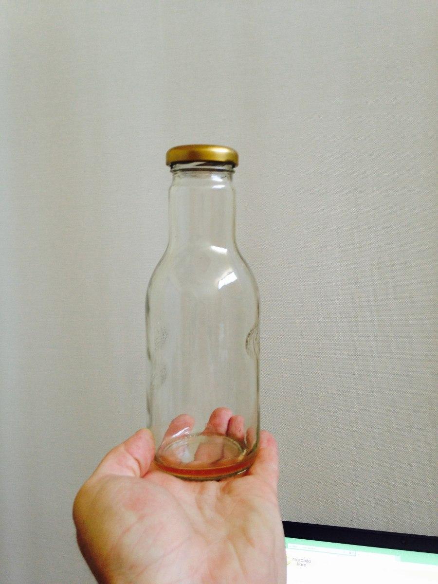 Botellas de vidrio transparente hermeticas 400 ml en mercado libre - Vidrio plastico transparente precio ...