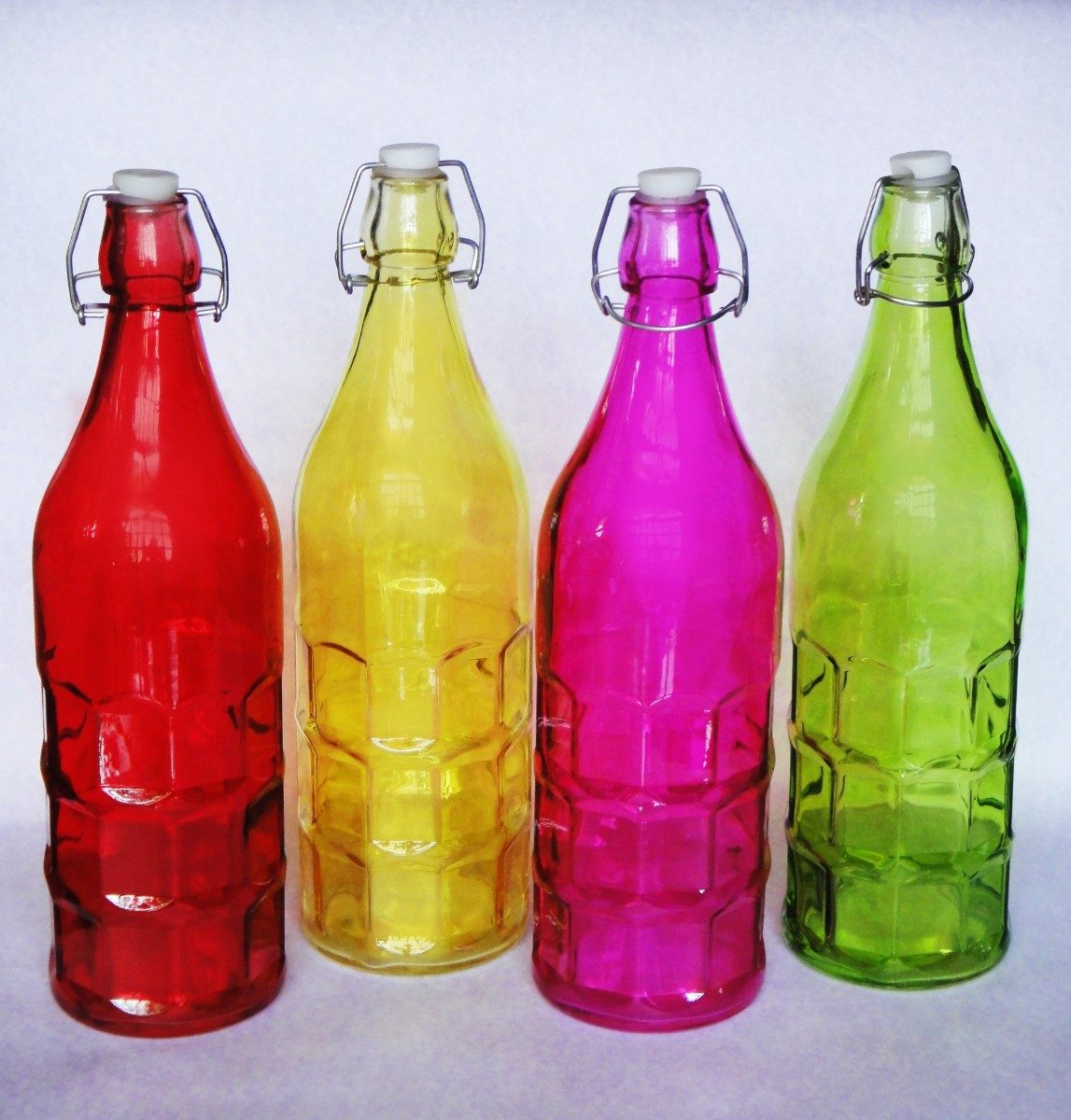 Botellas de vidrio vac as recuerdo fiesta bebida mesa - Botellas de vidrio para regalo ...