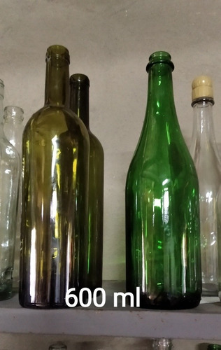 botellas de vidrio  varios tamaños