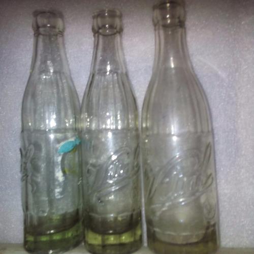 botellas de vidrio vital 3 diferentes todo $550