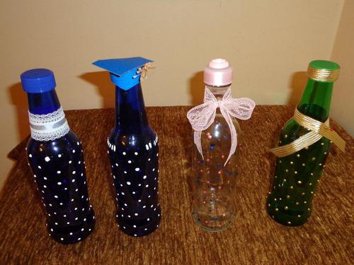 Botellas de vidrios decoradas para cualquier evento bs - Decoracion de botellas ...