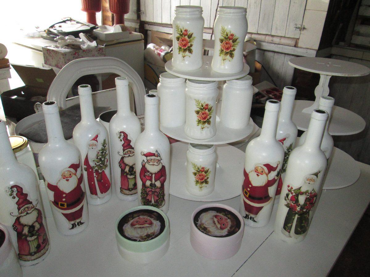 Botellas Decoracion Shabby Chic Vintage Navidad - $ 120,00 en ...