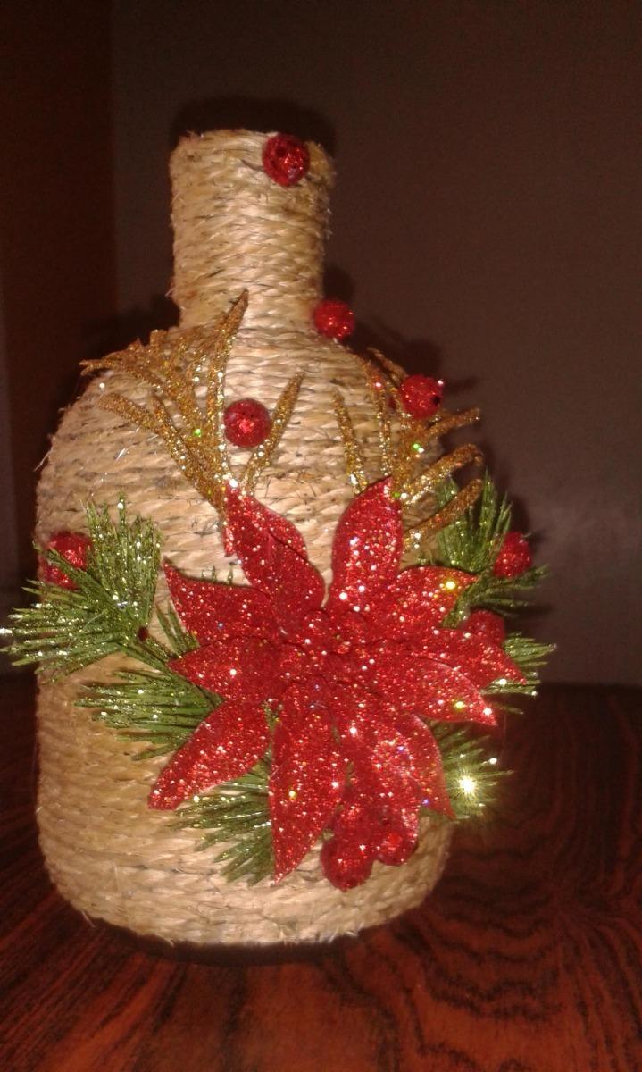 Botellas decoradas navidad y otros eventos bs for Botellas de vidrio decoradas para navidad