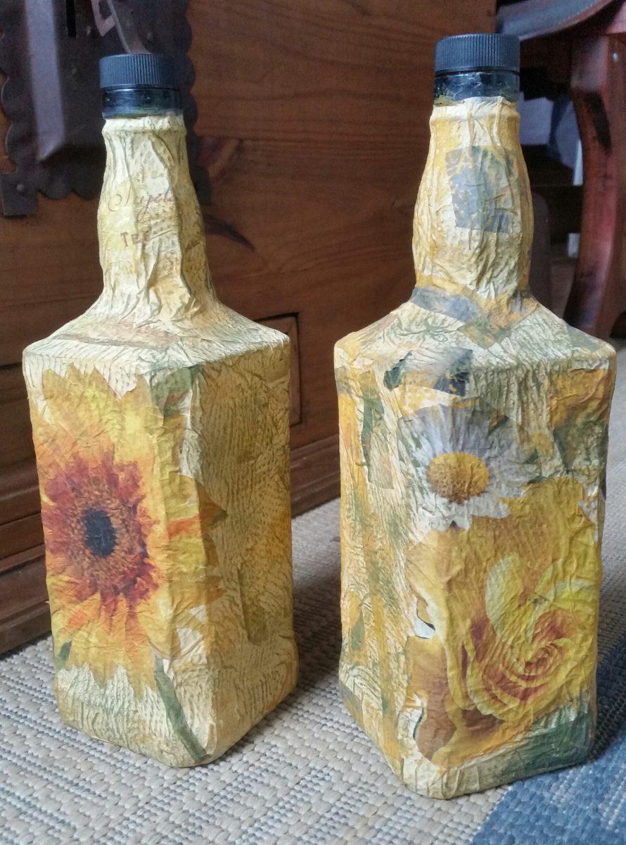 Botellas decoradas para regalo 100 00 en mercado libre - Botellas de vidrio para regalo ...