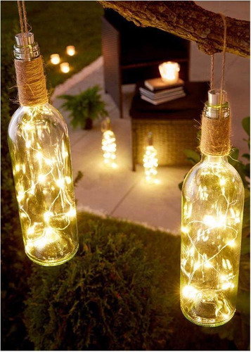 botellas decorativas led