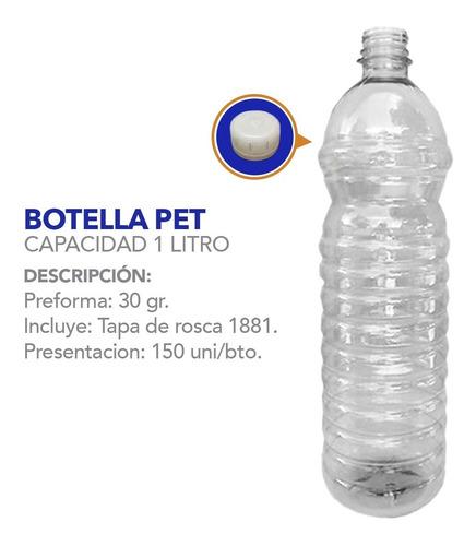 botellas, envases plásticos 1 litro