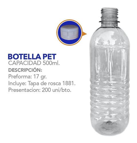botellas, envases plásticos 500ml