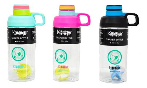 botellas keep shaker para batidos deportiva 600ml