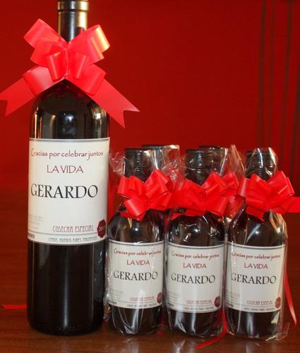 botellas personalizadas vinos por 187 ml