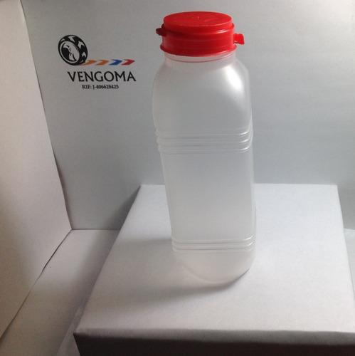 botellas plásticas de 400 ml cuadrada tapa roja