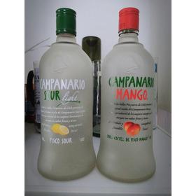Botellas Vacías De Pisco Mango/sour Campanario 700ml C/tapa