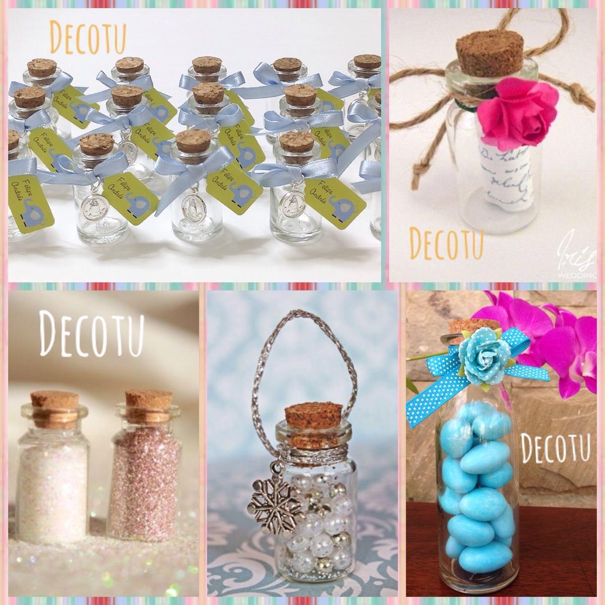 Botellas vidrio corcho recuerdito bautizo baby s boda 9 - Como pegar corchos de botellas ...