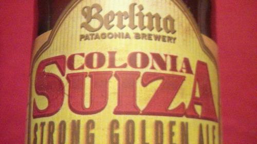 botellita de cerveza berlina colonia suiza vacía