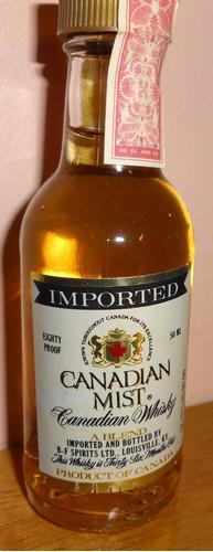 botellita de colección de whisky canadian mist (canada)