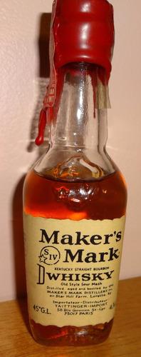 botellita de colección de whisky maker¿s mark