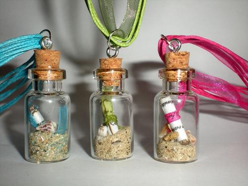 botellitas  de vidrio $190  4 cm x 2 cm
