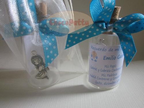 botellitas para agua bendita: misa de honras