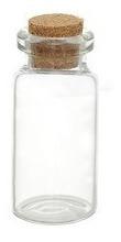 botellitas vidrio con corcho, souvenir, recuerdo 5 x 2cms