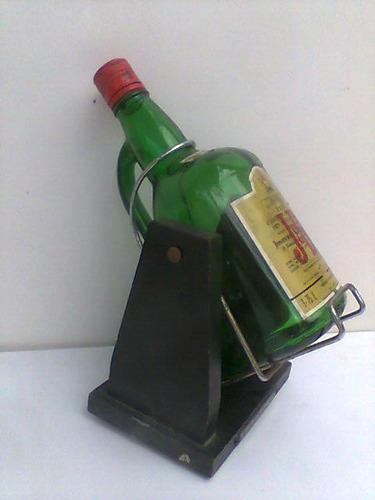 botellon con soporte de whisky jb