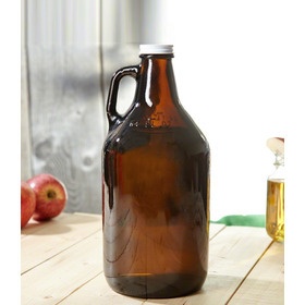 Botellon Growler Ambar Cerveza Con Tapa 1.9  Distribuidora