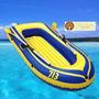 Bote Inflable Con Remos, Inflador Y Accesorios Playa Camping