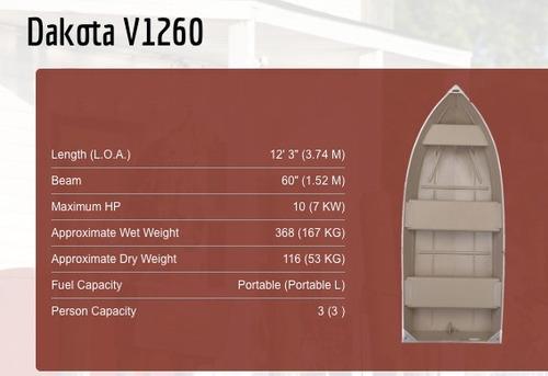 botes de aluminio americanos - polar kraft - dkv 1260