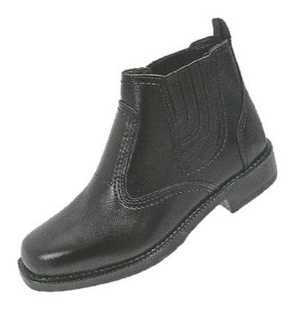botia social preta couro bota resistente casual country fort