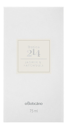 botica 214 eau de parfum jasmim & patchouli 75ml